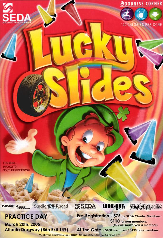 Lucky Slides Event Flyer